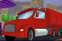 Aparcamiento del camión de combustible