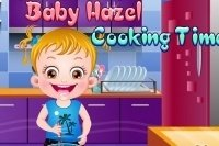 Baby Hazel cocina