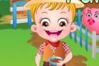 Baby Hazel en la granja