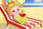 Baby Hazel en la playa