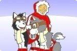Carrera de huskys