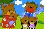Colorea a la familia de osos