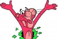 Colorea a la pantera rosa