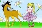 Colorea el dibujo del caballo