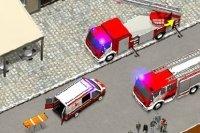 Conecta los camiones de bomberos