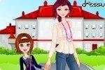 De camino a la escuela con mamá