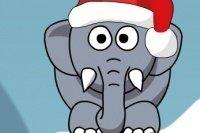 Elefante navideño roncador