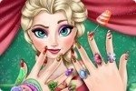 Elsa y las uñas navideñas