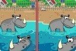 Encuentra las diferencias en el zoo