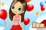 La chica de los globos