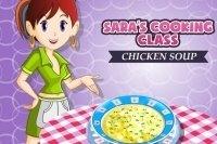 La sopa de pollo en la clase de cocina de Sara