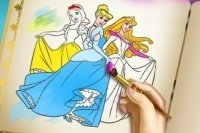 Libro para colorear princesas