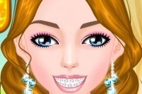 Maquilla la niña con aparato