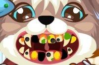 Perrito en el dentista