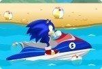 Sonic en moto de agua
