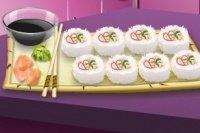 Sushi en la clase de cocina de Sara