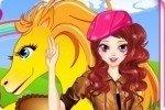 Viste a la chica del caballo